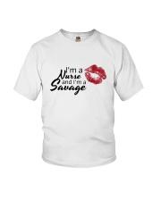 I'm A Nurse And I'm A Savage Shirt Youth T-Shirt thumbnail