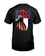 Mississippi And American Flag Shirt Classic T-Shirt back