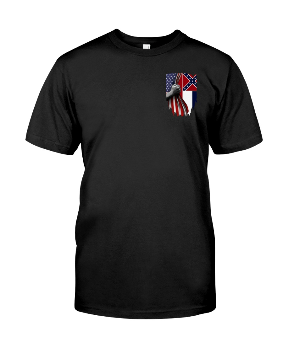 Mississippi And American Flag Shirt Classic T-Shirt