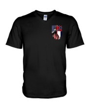 Mississippi And American Flag Shirt V-Neck T-Shirt thumbnail