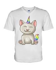 Kitty Unicorn V-Neck T-Shirt thumbnail