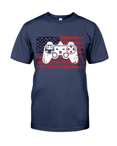 American grunge flag gaming