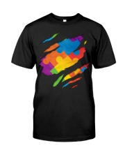 National Autism Awareness Support Superheroes Classic T-Shirt front