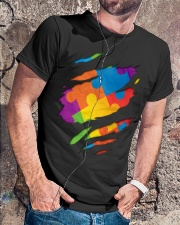 National Autism Awareness Support Superheroes Classic T-Shirt lifestyle-mens-crewneck-front-4