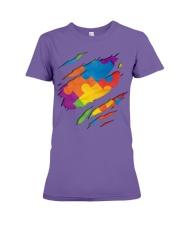 National Autism Awareness Support Superheroes Premium Fit Ladies Tee thumbnail