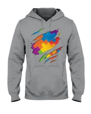 National Autism Awareness Support Superheroes Hooded Sweatshirt thumbnail