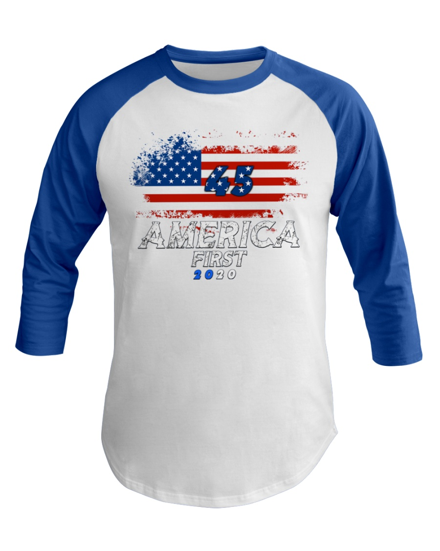 America First T-shirt Baseball Tee