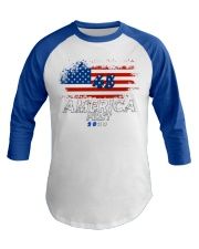 America First T-shirt Baseball Tee front