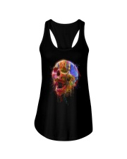 Colorful Skull Ladies Flowy Tank thumbnail