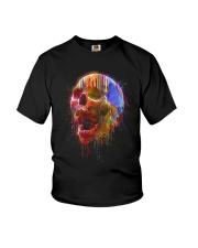Colorful Skull Youth T-Shirt thumbnail