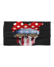 American Flag Skull Bow Leopard Glasses Cloth face mask thumbnail
