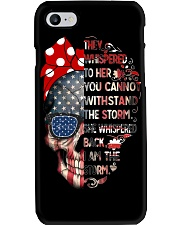 They Whispered To Her Skull Flag Phone Case thumbnail