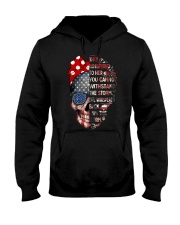 They Whispered To Her Skull Flag Hooded Sweatshirt front