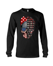 They Whispered To Her Skull Flag Long Sleeve Tee thumbnail