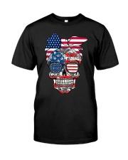 Sugar Skull Flag Bow Glasses Classic T-Shirt thumbnail