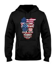 Sugar Skull Flag Bow Glasses Hooded Sweatshirt front