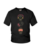 See no evil hear no evil speak no evil skulls Youth T-Shirt thumbnail