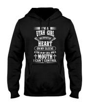 Utah Girl Was Born With Heart on Sleeve Hooded Sweatshirt thumbnail