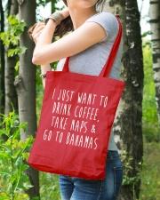 Drink Coffee Take Naps Go to Bahamas Tote Bag lifestyle-totebag-front-4