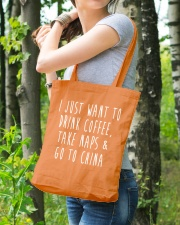 Drink Coffee Take Naps Go to China Tote Bag lifestyle-totebag-front-4