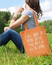 Drink Coffee Take Naps Go to China Tote Bag lifestyle-totebag-front-6