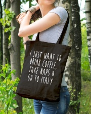 Drink Coffee Take Naps Go to Italy Tote Bag lifestyle-totebag-front-4