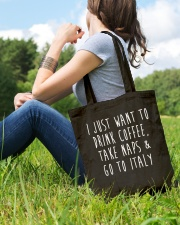 Drink Coffee Take Naps Go to Italy Tote Bag lifestyle-totebag-front-6