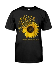 Sunflower Accept Understand Love Autism Shirt Classic T-Shirt tile