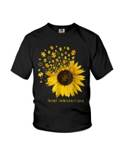 Sunflower Accept Understand Love Autism Shirt Youth T-Shirt thumbnail