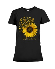 Sunflower Accept Understand Love Autism Shirt Premium Fit Ladies Tee thumbnail