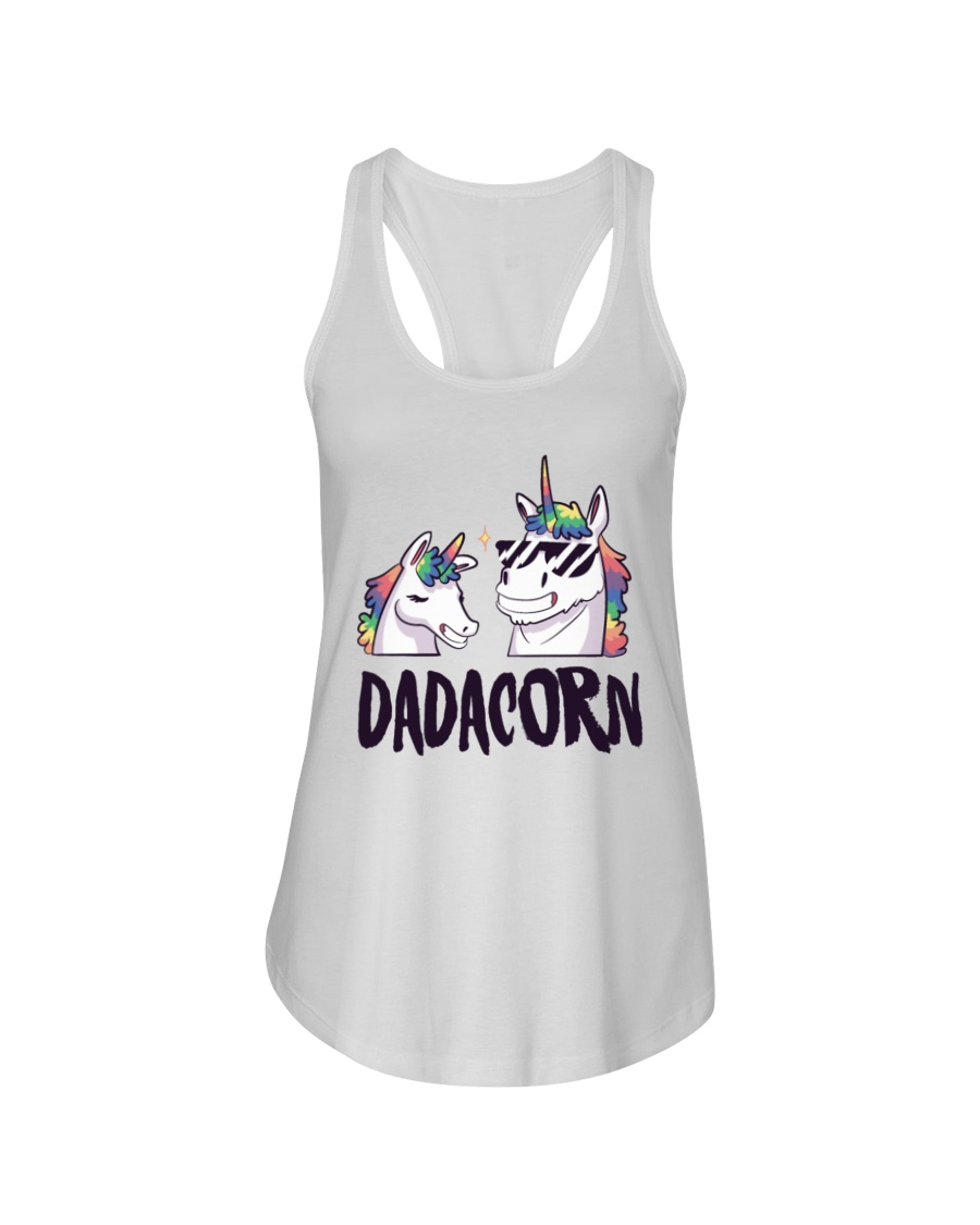 Dadacorn Unicorn Dad 2018 Shirt Ladies Flowy Tank