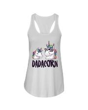 Dadacorn Unicorn Dad 2018 Shirt Ladies Flowy Tank front