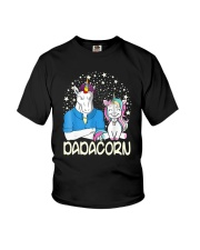 Dadacorn Unicorn Dad Shirt Youth T-Shirt front