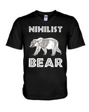Nihilist Bear Mama Bear Shirt V-Neck T-Shirt thumbnail