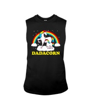 Dadacorn Matching Unicorn Shirt Sleeveless Tee front