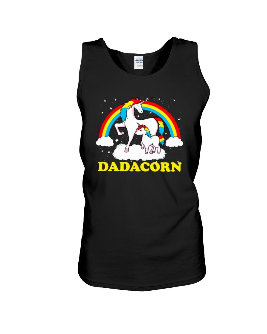 Dadacorn Matching Unicorn Shirt Unisex Tank