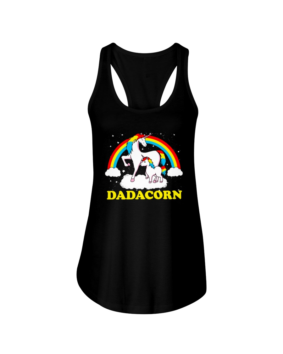 Dadacorn Matching Unicorn Shirt Ladies Flowy Tank