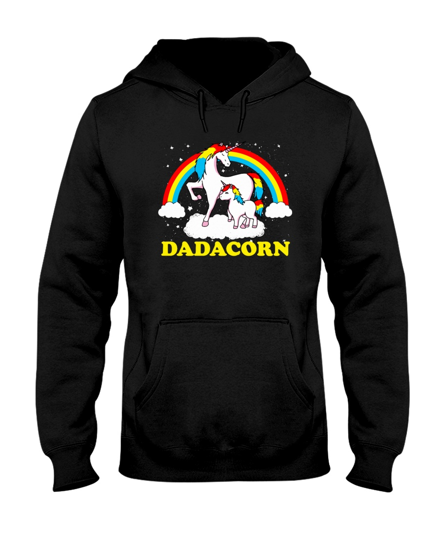 Dadacorn Matching Unicorn Shirt Hooded Sweatshirt