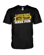 Women I Just Hope Both Teams Have Fun Shirt V-Neck T-Shirt thumbnail