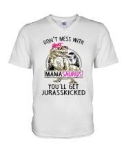 Don't Mess With Mamasaurus Tee Shirt V-Neck T-Shirt thumbnail