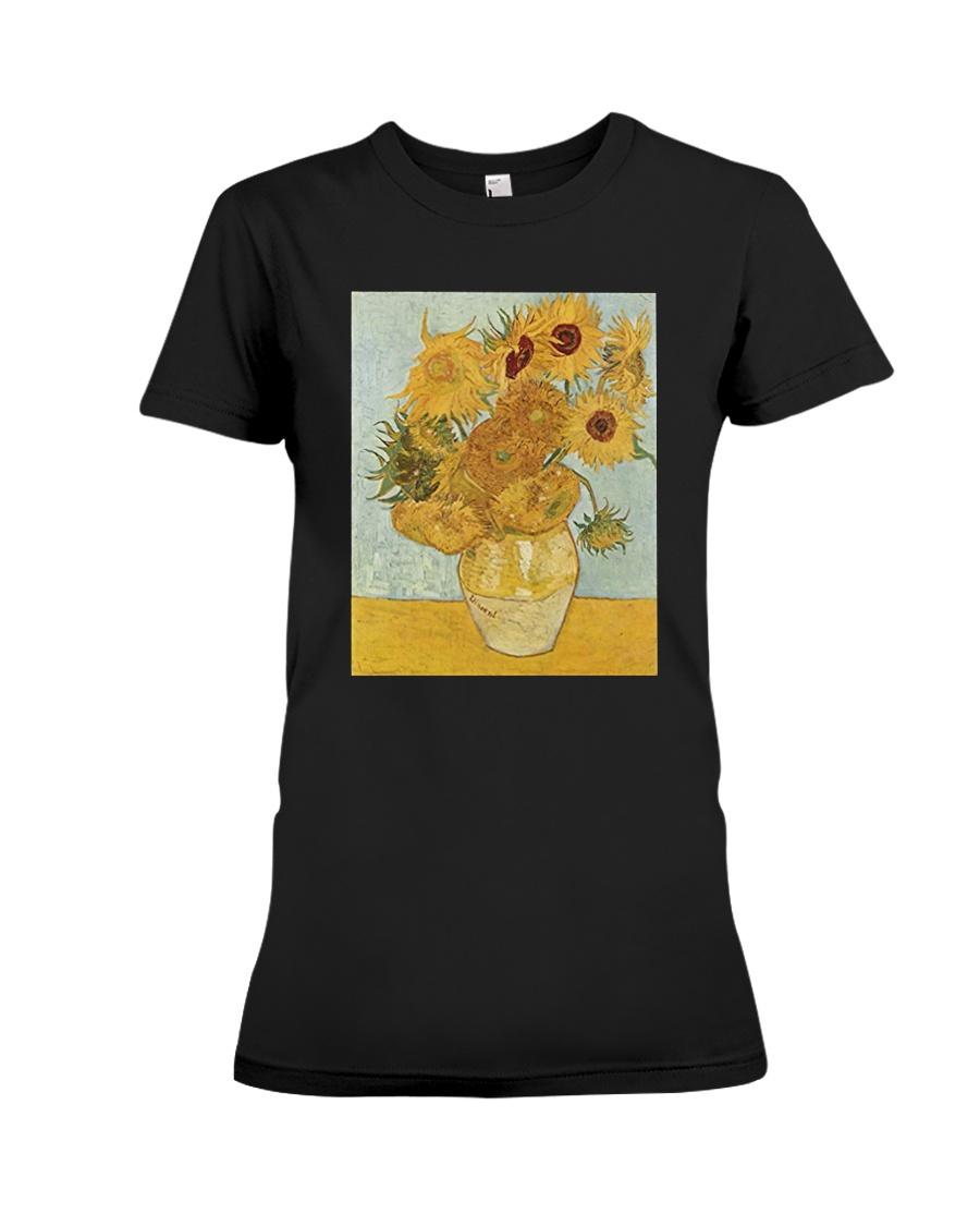 Sunflowers Vincent van Gogh T-Shirt Premium Fit Ladies Tee