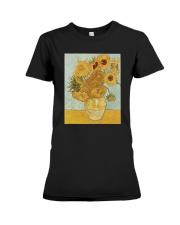 Sunflowers Vincent van Gogh T-Shirt Premium Fit Ladies Tee front