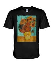 Sunflowers Van Gogh Gift T-Shirt V-Neck T-Shirt thumbnail