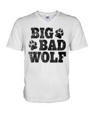 Womens Big Bad Wolf T-Shirt V-Neck T-Shirt thumbnail