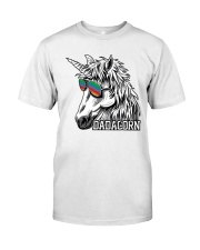 Dadacorn Unicorn Dad T-Shirt Premium Fit Mens Tee front