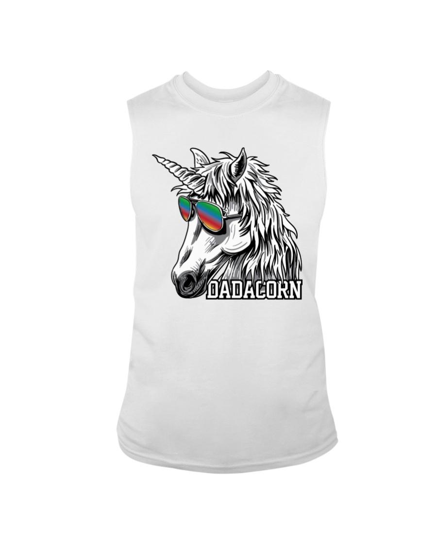Dadacorn Unicorn Dad T-Shirt Sleeveless Tee