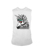 Dadacorn Unicorn Dad T-Shirt Sleeveless Tee tile