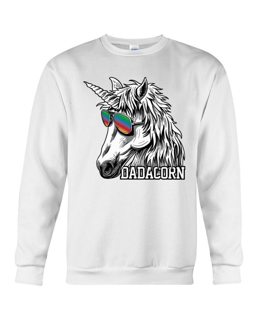 Dadacorn Unicorn Dad T-Shirt Crewneck Sweatshirt