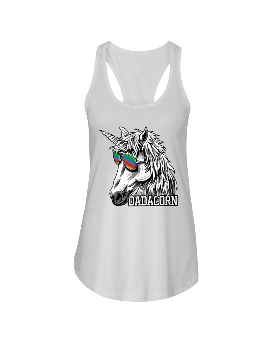 Dadacorn Unicorn Dad T-Shirt Ladies Flowy Tank