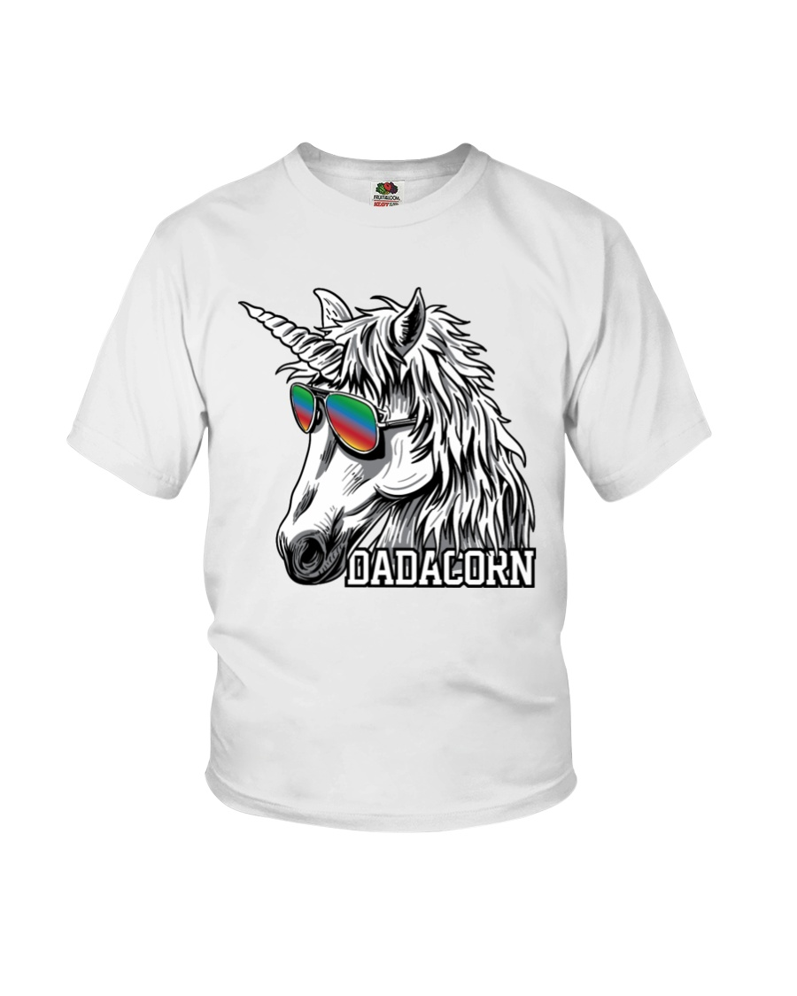 Dadacorn Unicorn Dad T-Shirt Youth T-Shirt